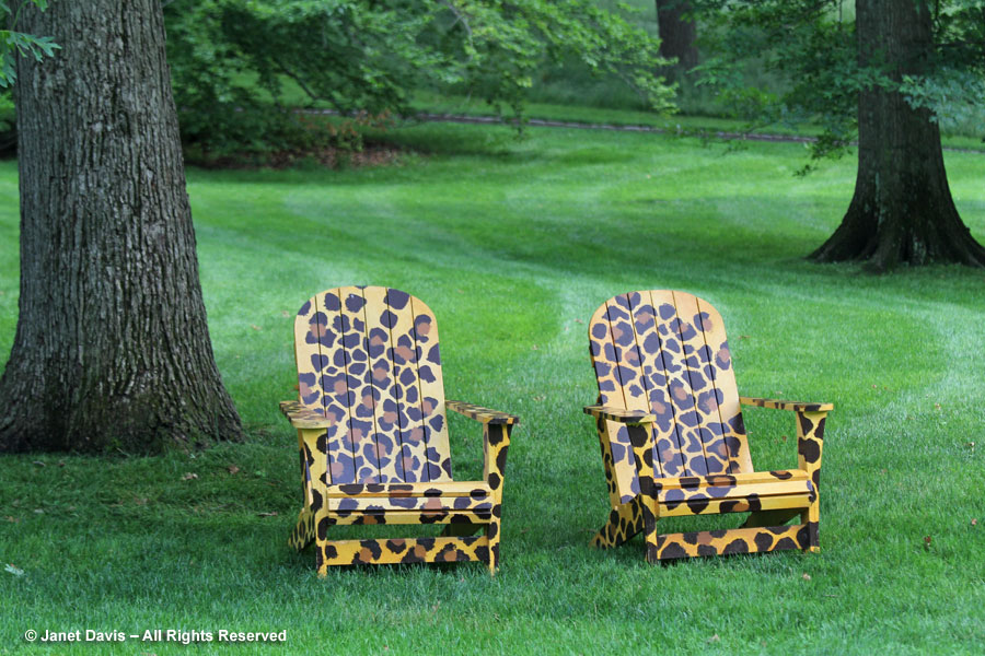 22-Leopard chairs on Great Lawn