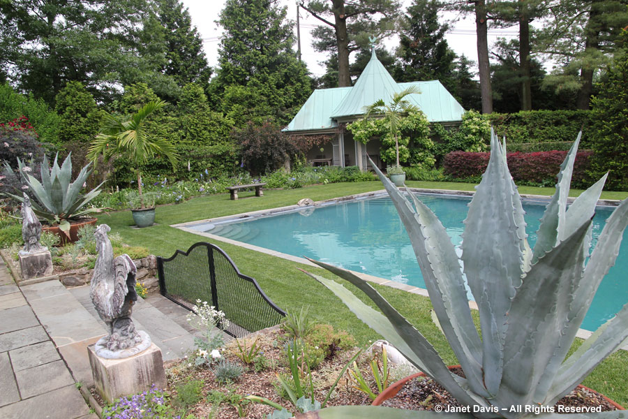 Touring chanticleer part 2 janet davis explores colour for English garden pool