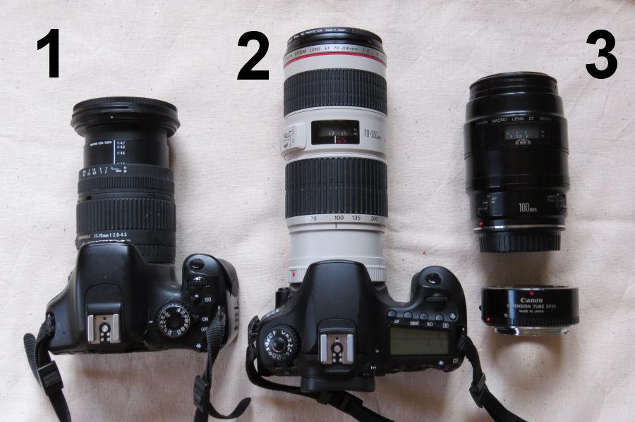 Wide angle-Telephoto-Macro lenses