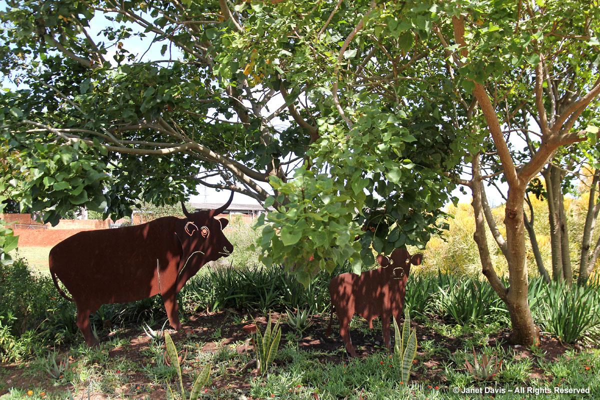 Cow Statuary-Durban Botanic