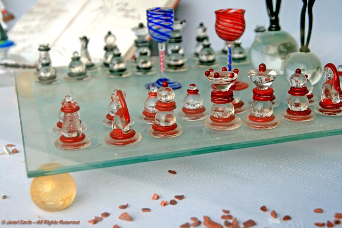 Glass Chess Set Murano U2026