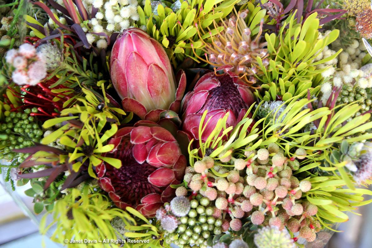 Fynbos flower bouquet