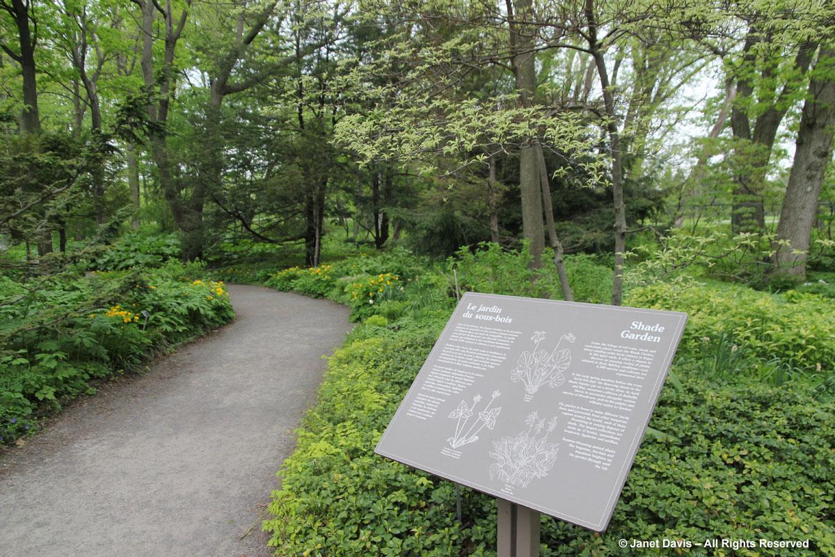 Shade Garden sign-Montreal Botanical Garden