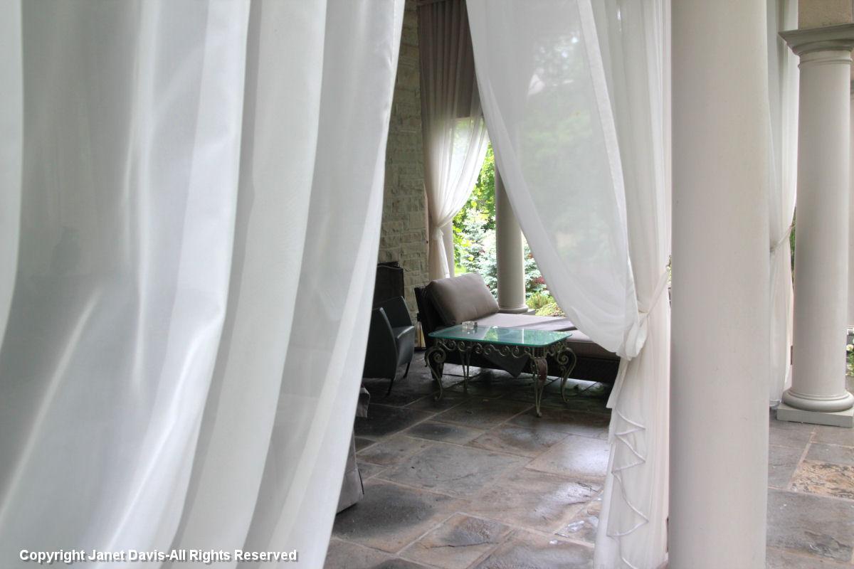 Draped terrace
