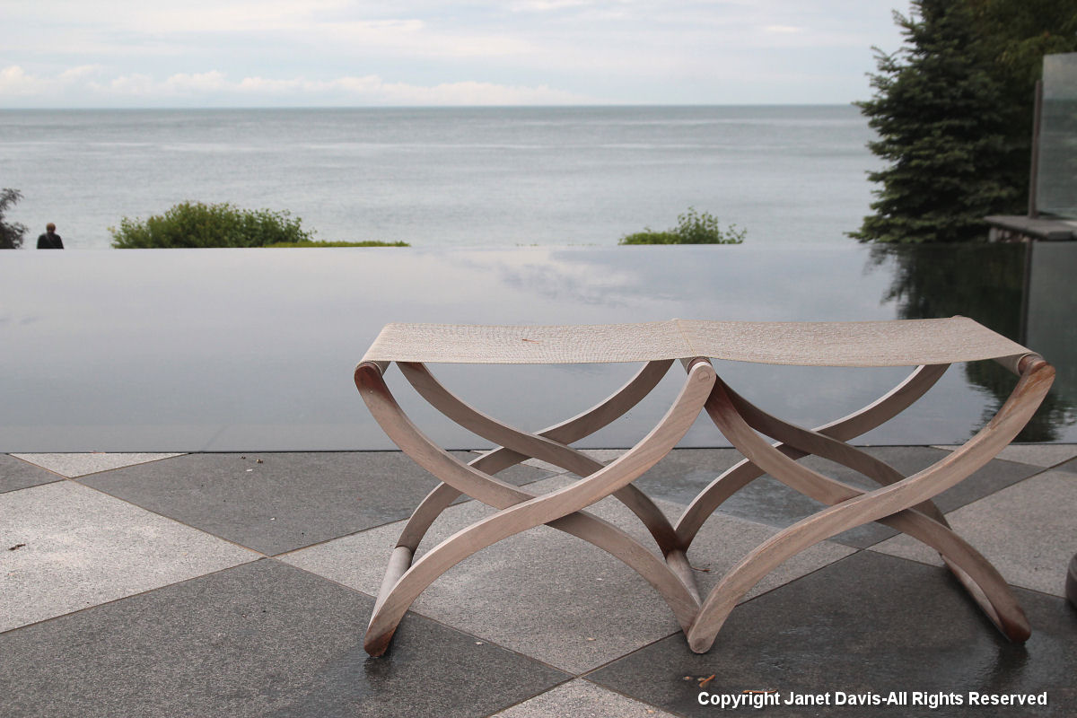 Swim stools-infinity pool-Lake Ontario