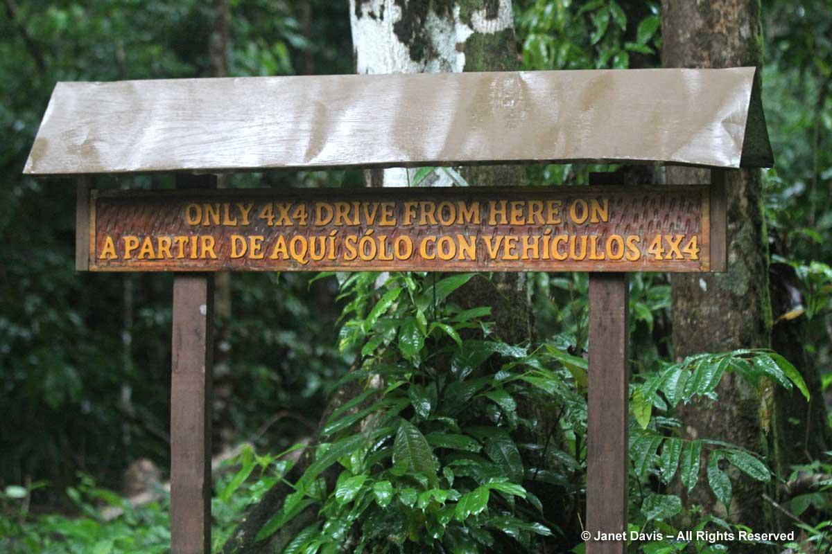 Entrance Sign-El Remanso-Osa