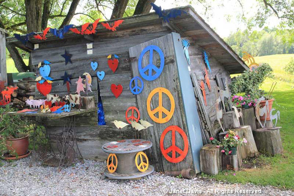 Artful Garden-JP Schoss Peace signs