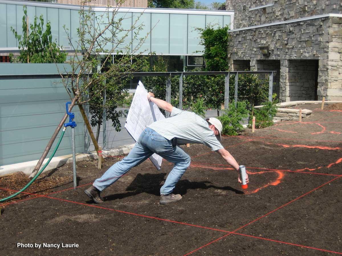 Construction-Toronto Botanical Garden-spraying grid