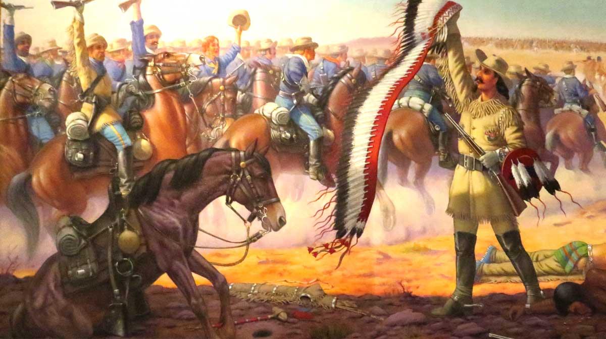 First Scalp For Custer-Robert Lindneux