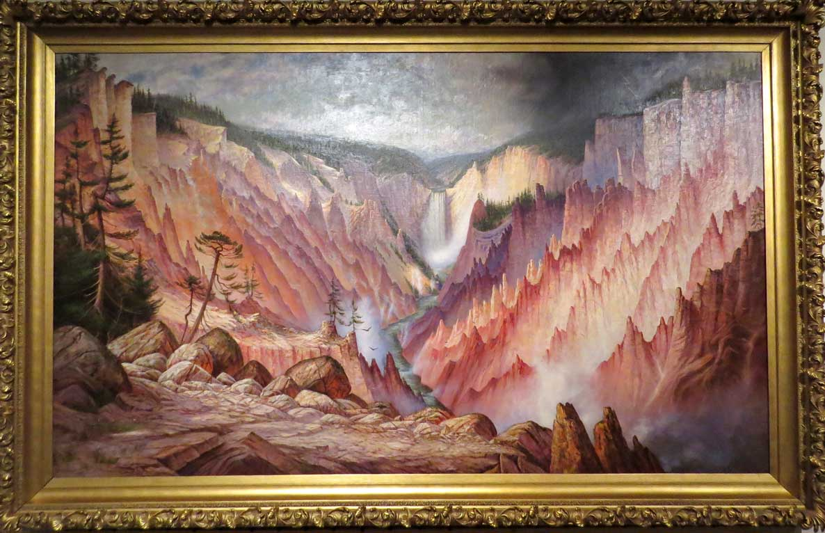 James Everett Stuart-Great Falls and Canyon of the Yellowstone