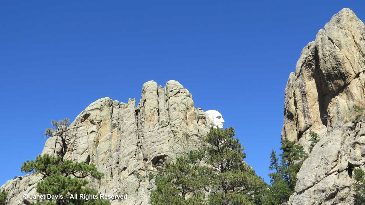 Mount Rushmore-George Washington-rear