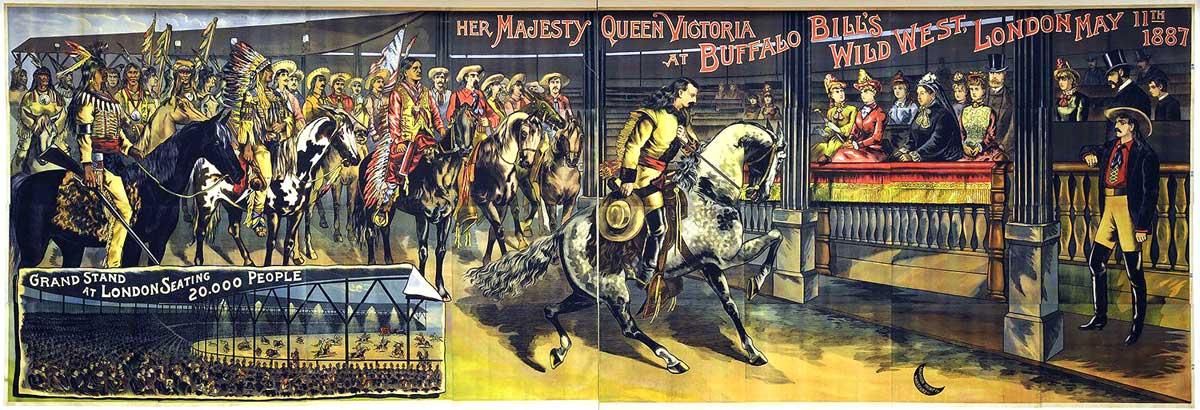 Queen Victoria & Buffalo Bill's Wild West-1887 Jubilee