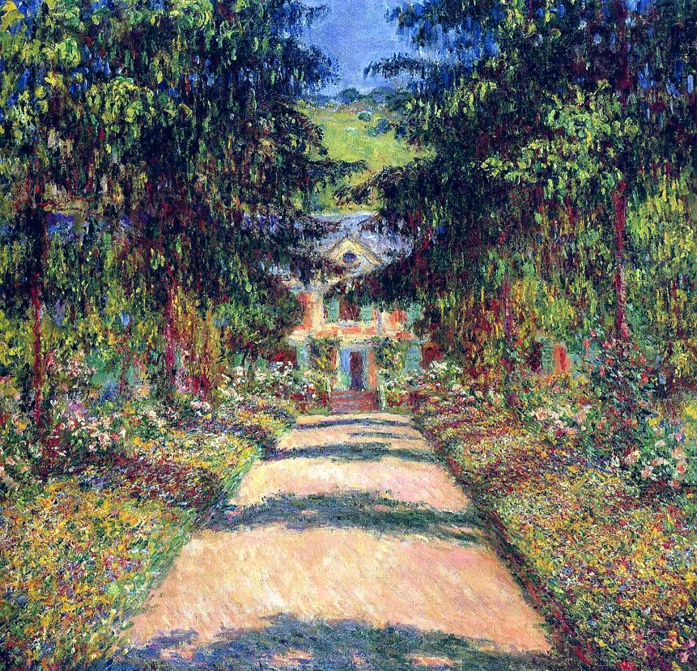 Claude Monet - Pathway In Monet's Garden At Giverny - 1900