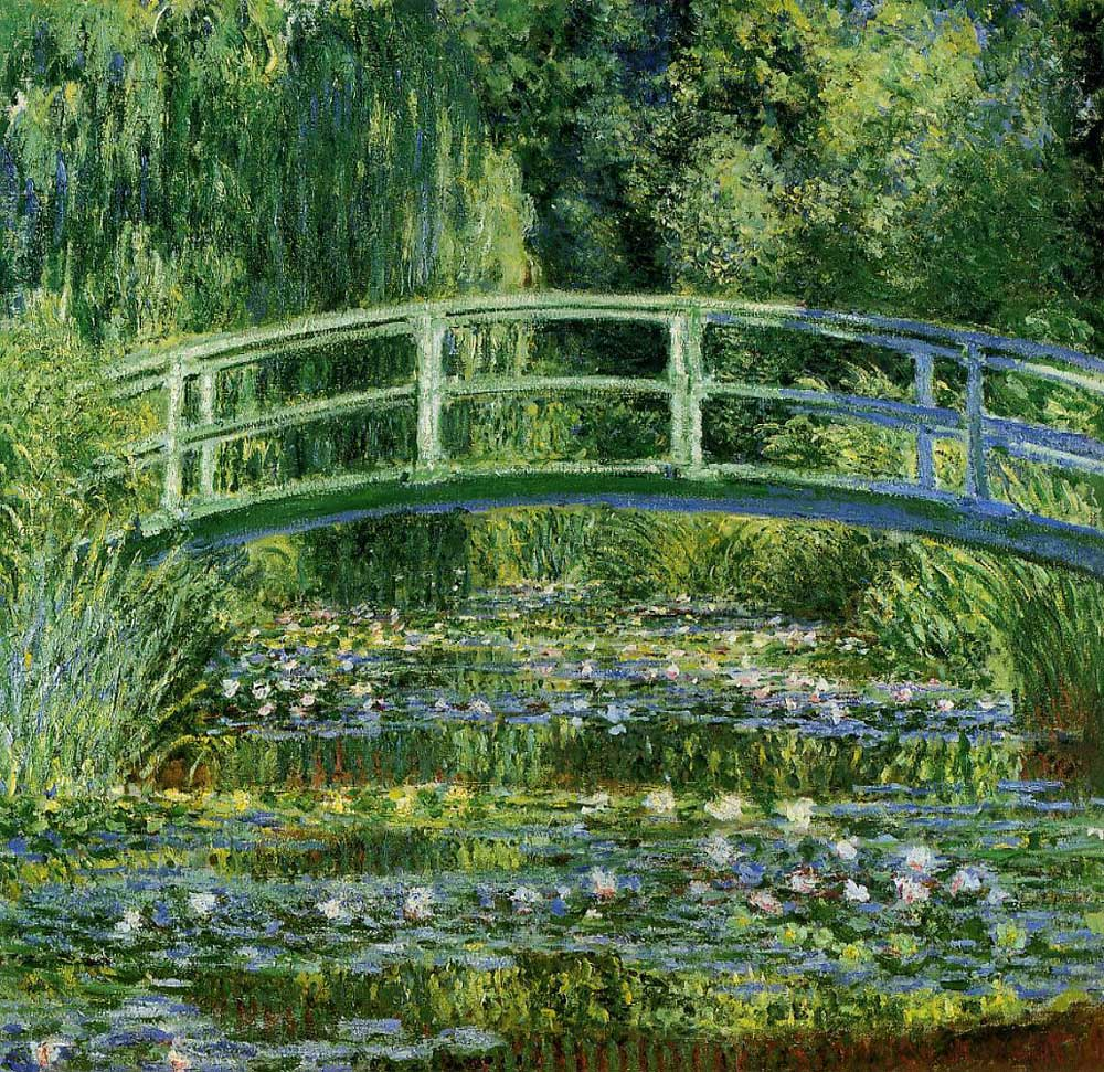 Claude Monet - The Japanese Footbridge-1899