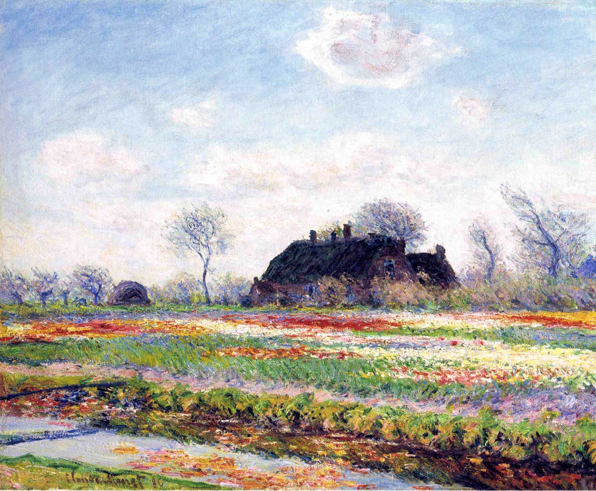 Claude Monet -Tulip Fields at Sassenheim-1886