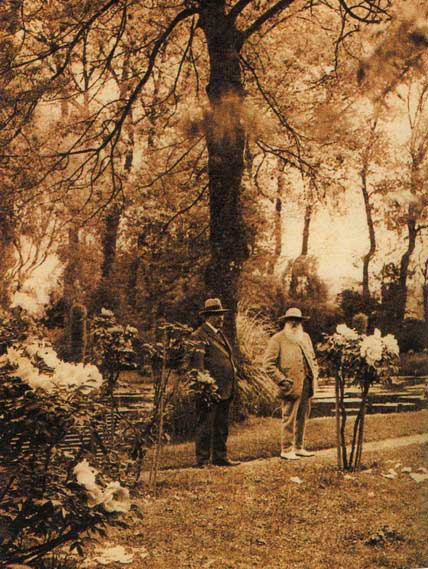 Georges Truffaut & Claude Monet at Giverny