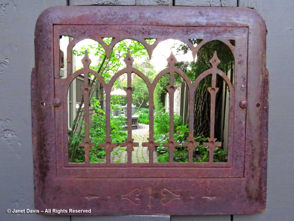 Garden gate-see through grate-Janet Davis-Toronto