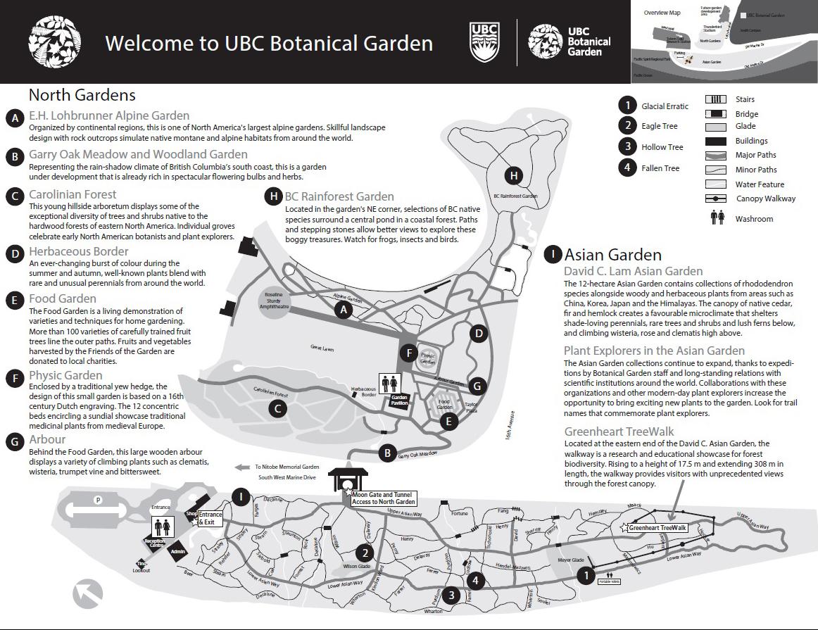 UBC Botanical Garden-map