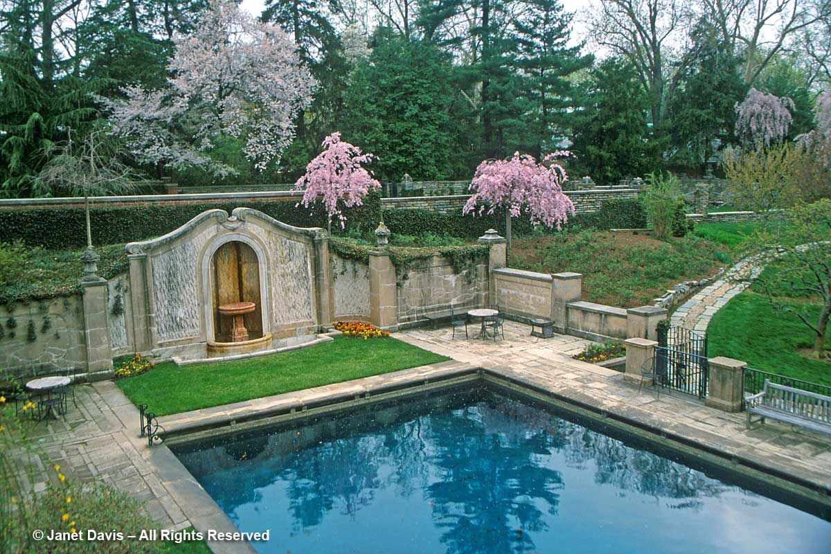 Dumbarton Oaks-Swimming Pool-Japanese Cherry Trees
