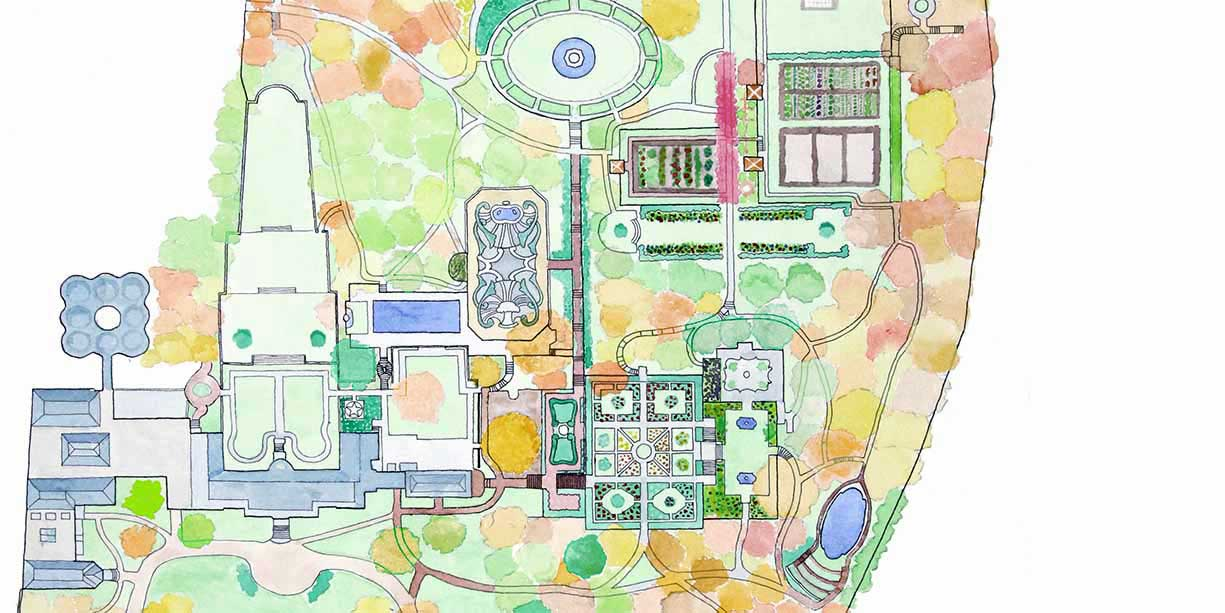 Garden Map-Dumbarton Oaks