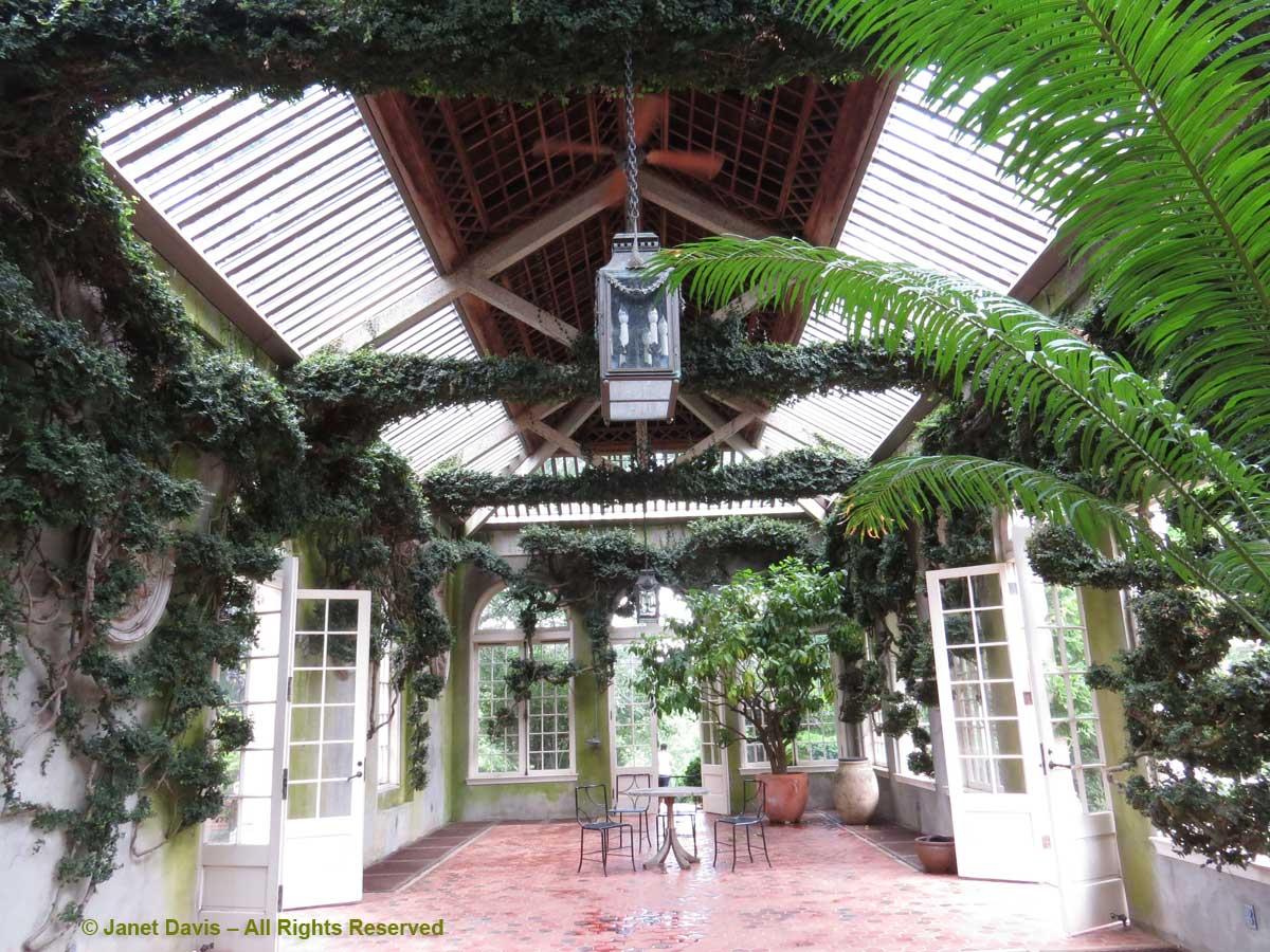Orangery interior-Dumbarton Oaks