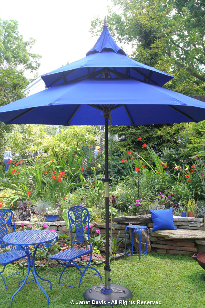 Blue Umbrella and furniture-Linda Hostetler