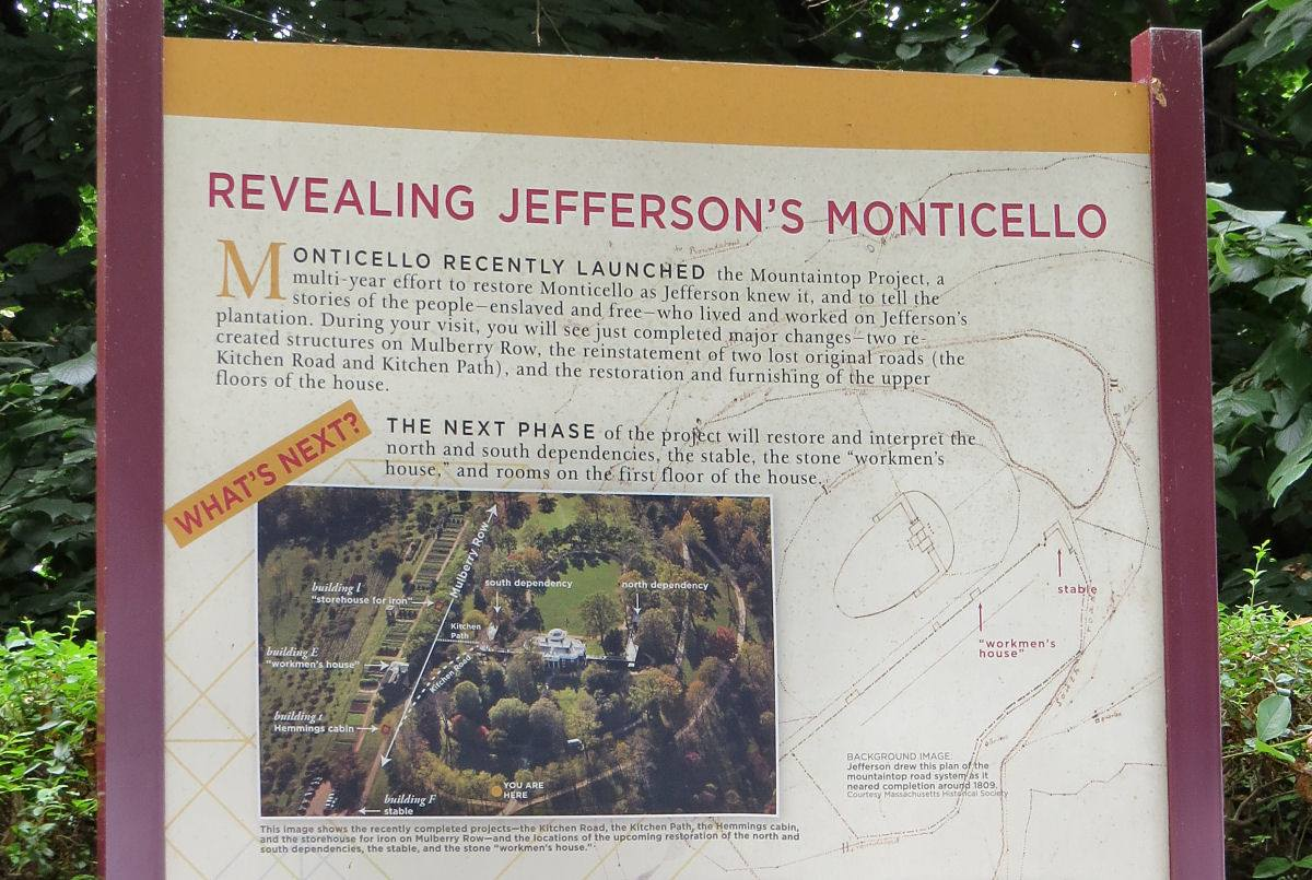 Interpretive Sign-Mountaintop Project-Monticello