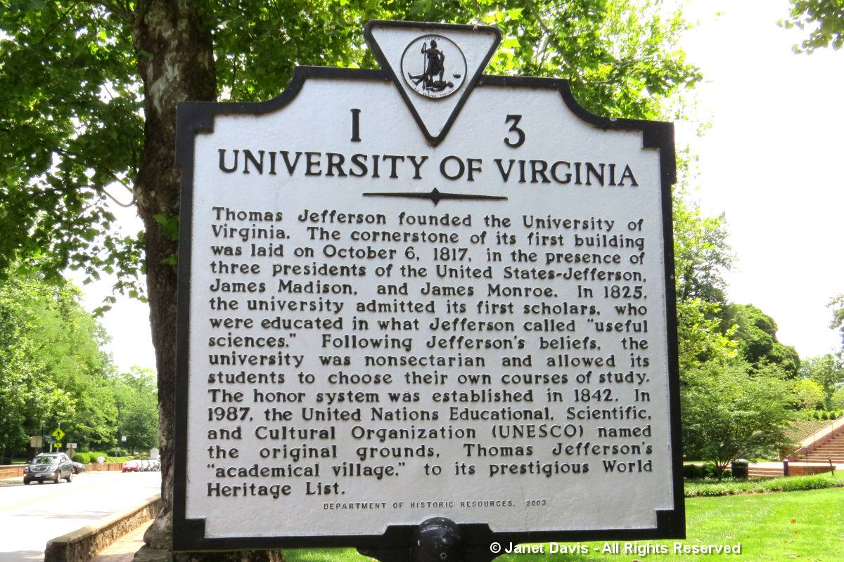 UVA-historic sign