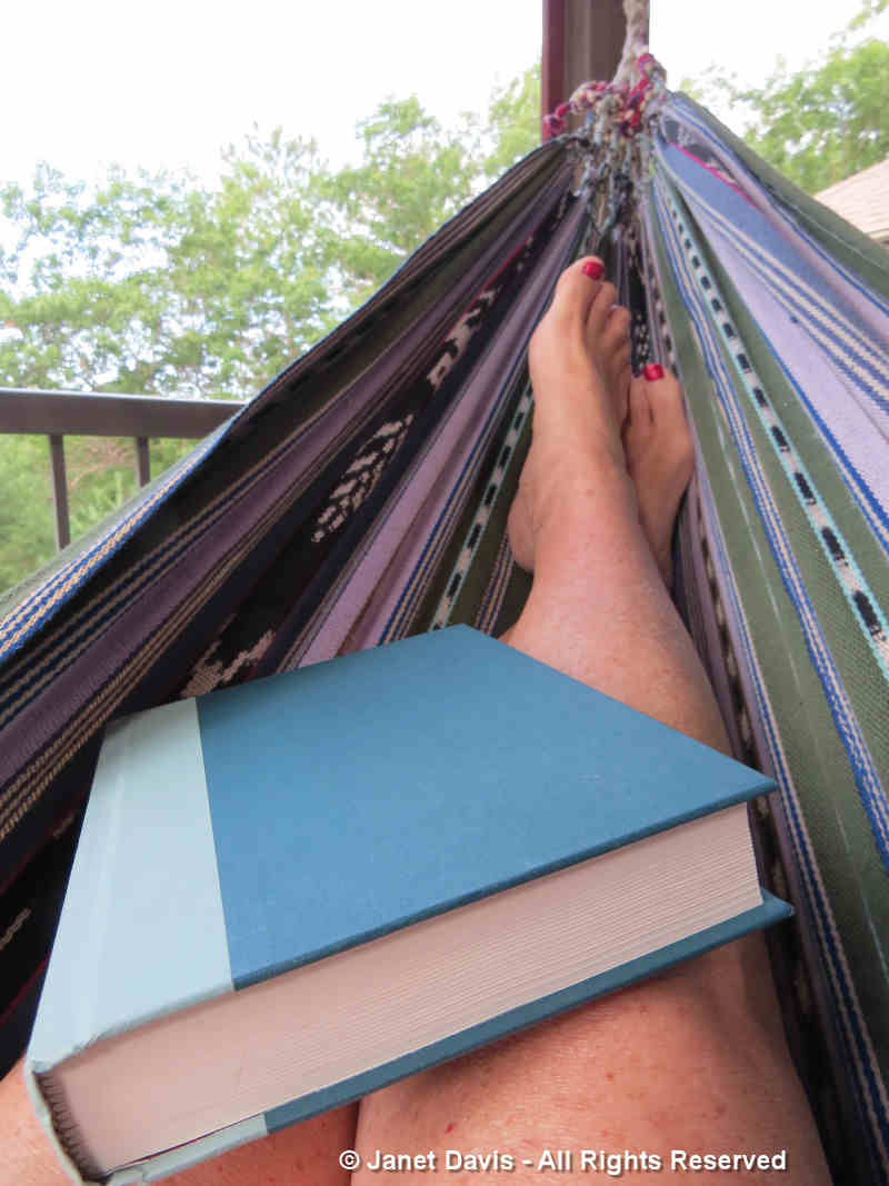 Book and hammock at Lake Muskoka