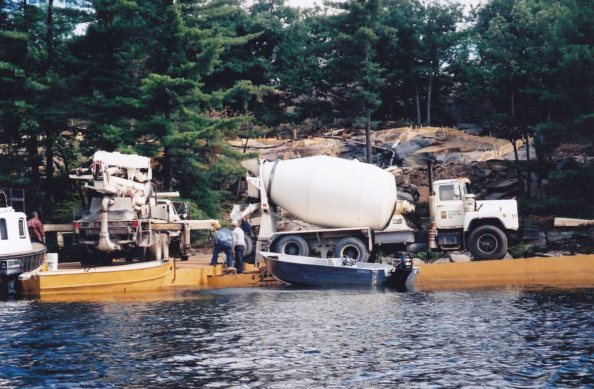 Equipment on barge-Lake Muskoka