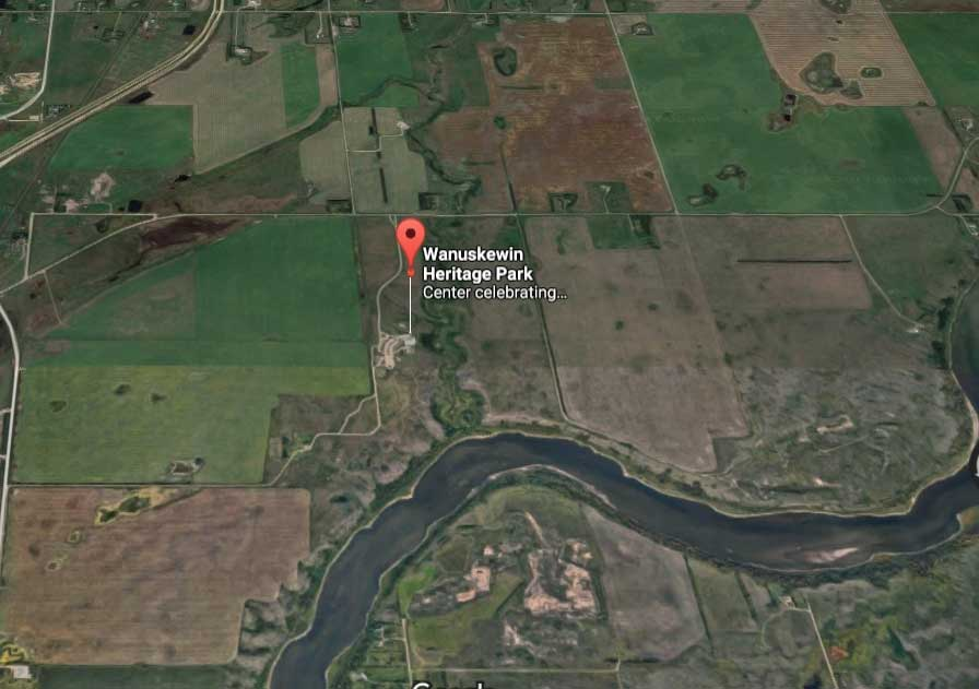 Google earth-Wanuskewin