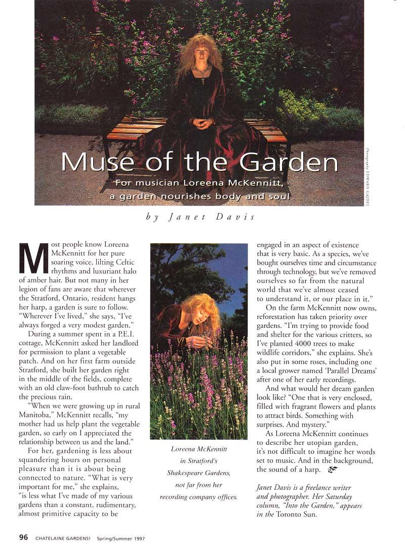 Loreena McKennitt-1997-Chatelaine Gardens