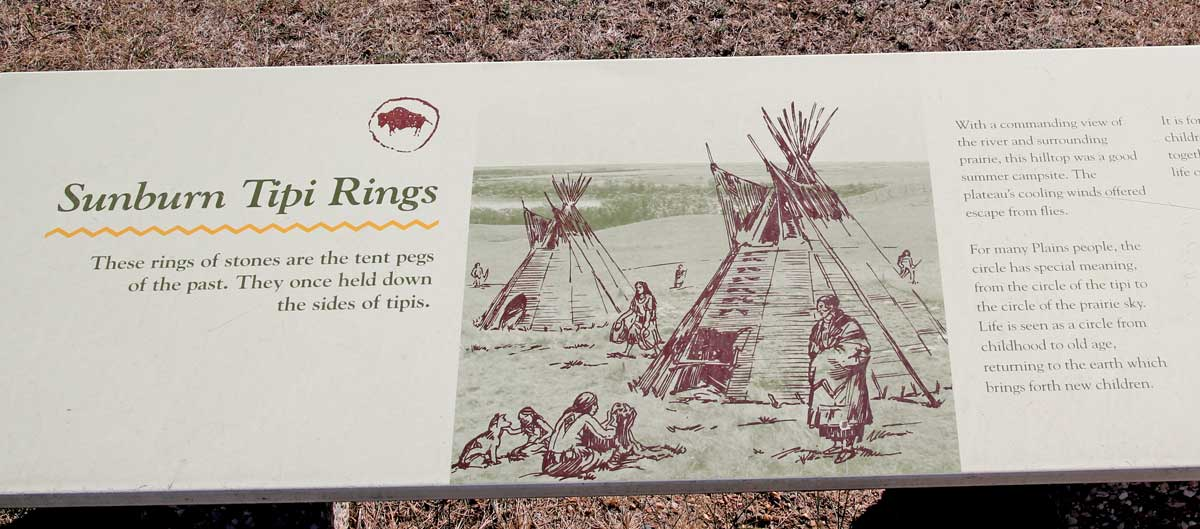 Sunburn Tipi Rings-Interpretive Sign-Wanuskewin