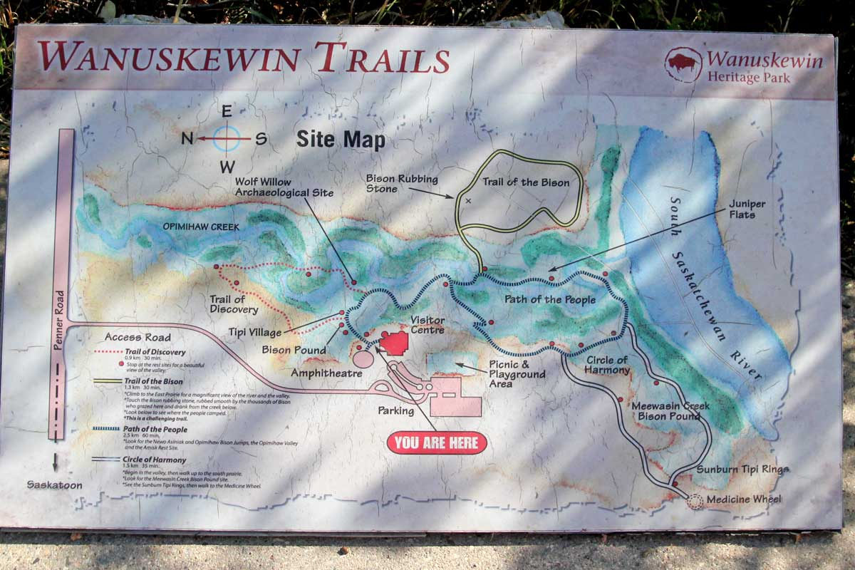 Wanueskewin Trail Map