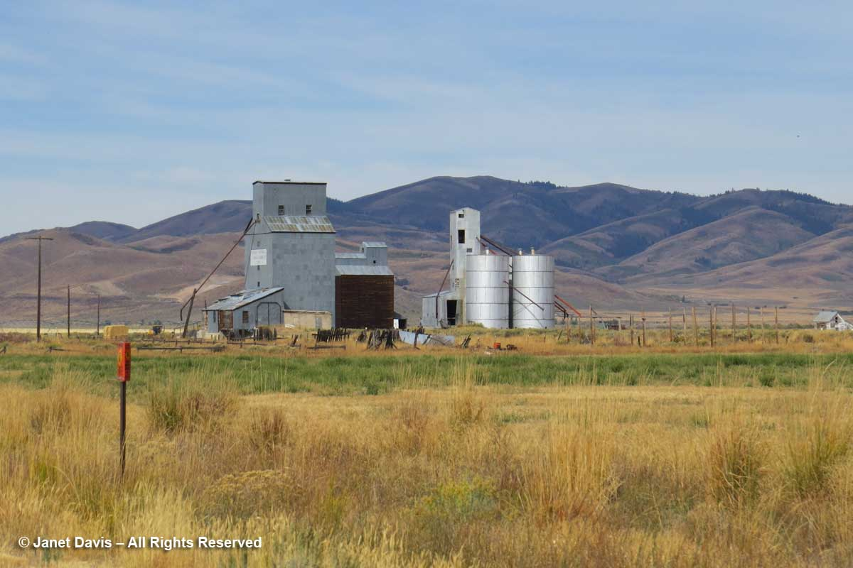 Grain silo-Sawtooth Range-Idaho