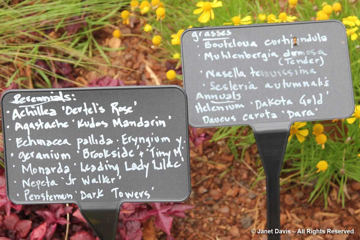 Plant labels-Ripley Garden