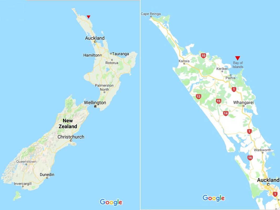 Map-Bay of Islands-Paihia