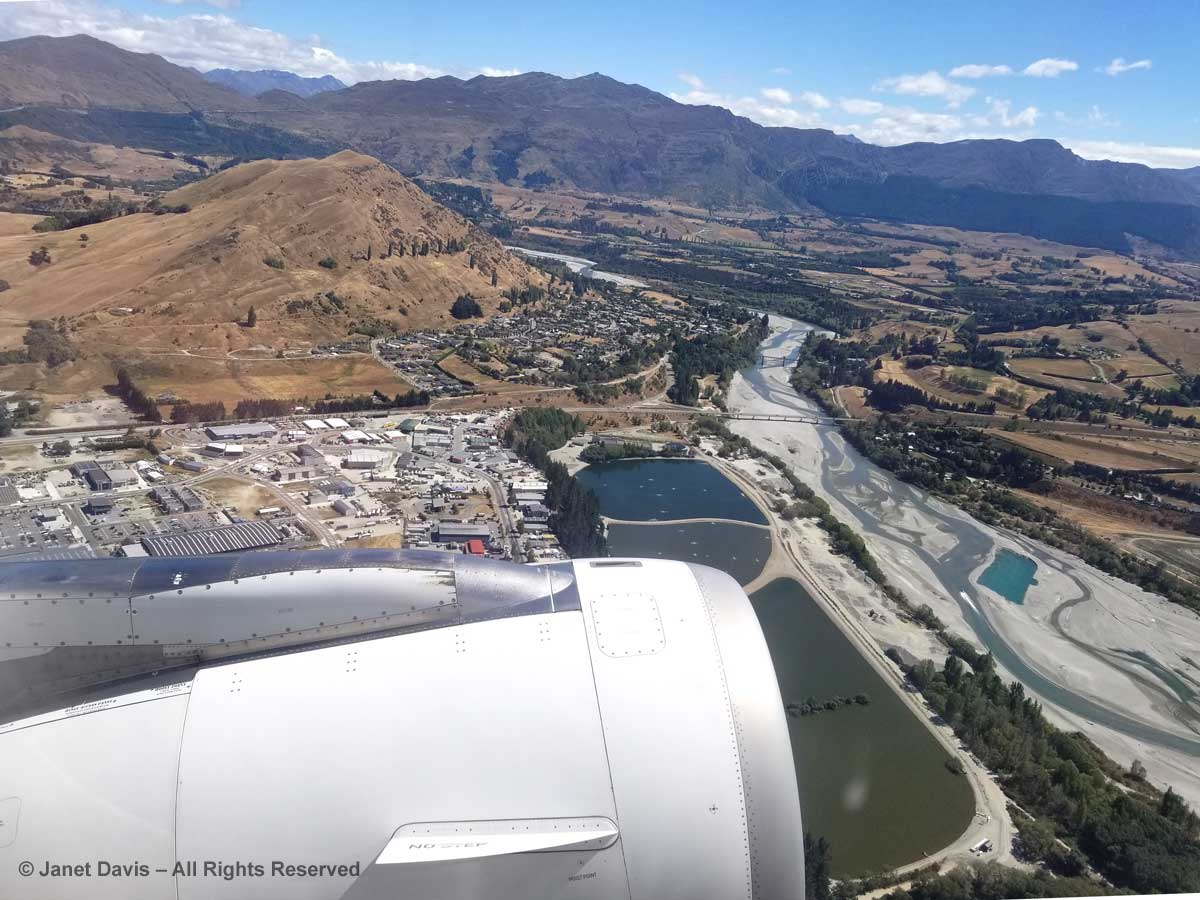 Aerial View-Aborted Landing-Queenstown-Lower Shotover River-Air New Zealand-