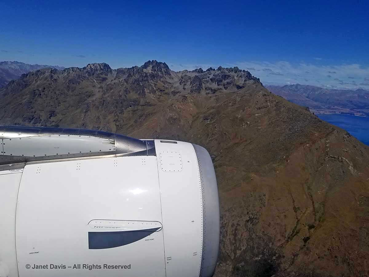 Craggy peak-Queenstown fly-around-Air New Zealand