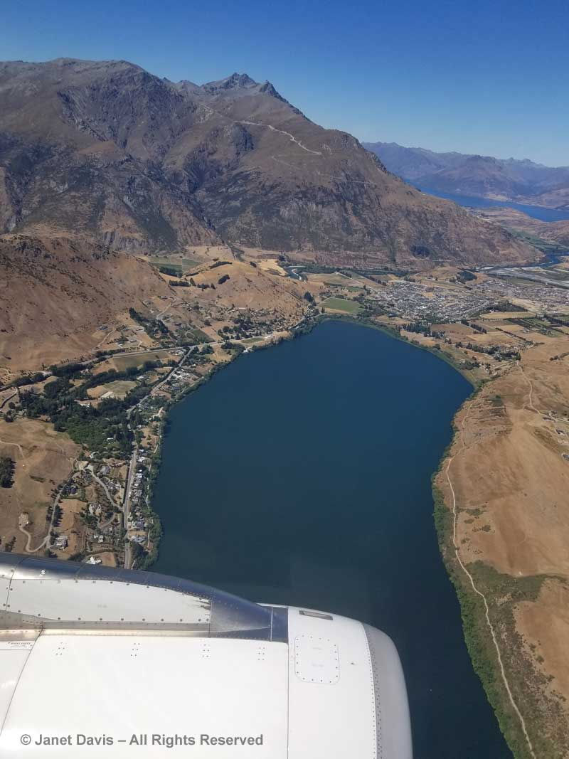 Lake Hayes-aerial view-Queenstown