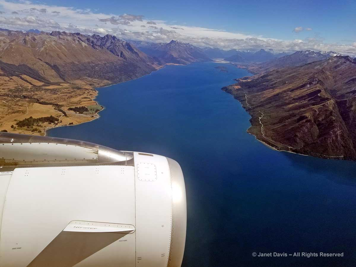 Lake Wakatipu-Aerial View-Auckland to Queenstown-Air New Zealand