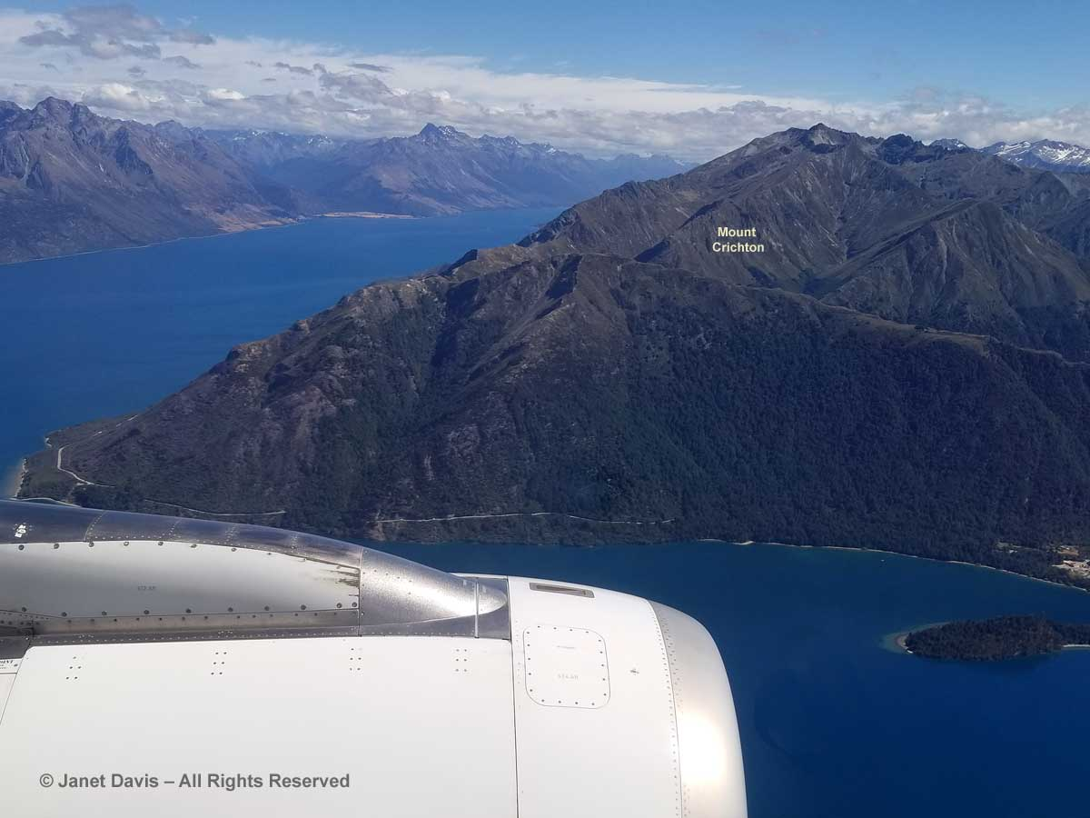 Lake Wakatipu & Mount Crichton-Air New Zealand-Auckland to Queenstown