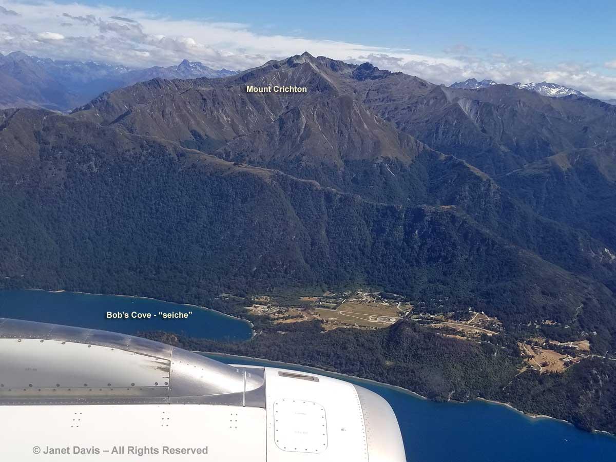 Lake Wakatipu-Seiche-Bob's Cove-Matau-Aerial View