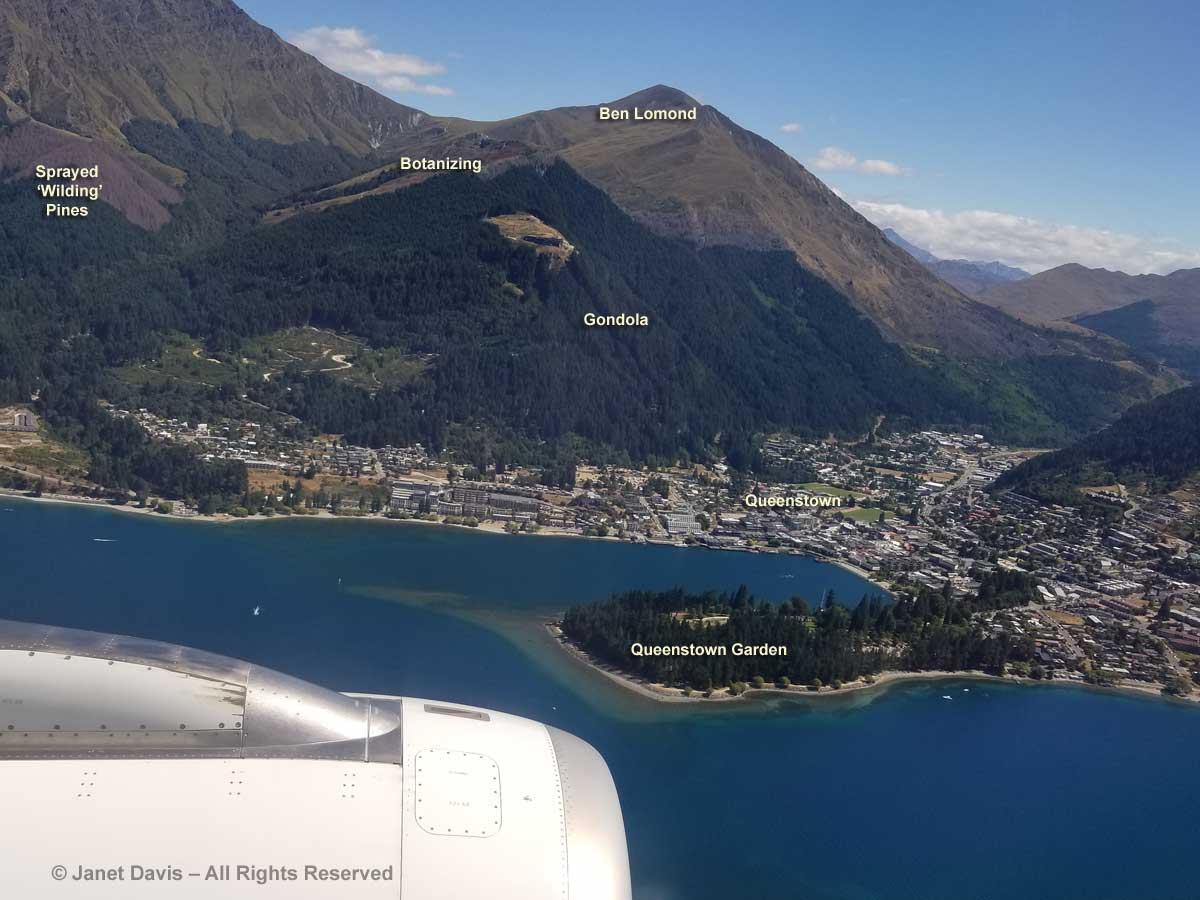 Queenstown-Air New Zealand Flight-Ben Lomond-Gardens-Aerial View