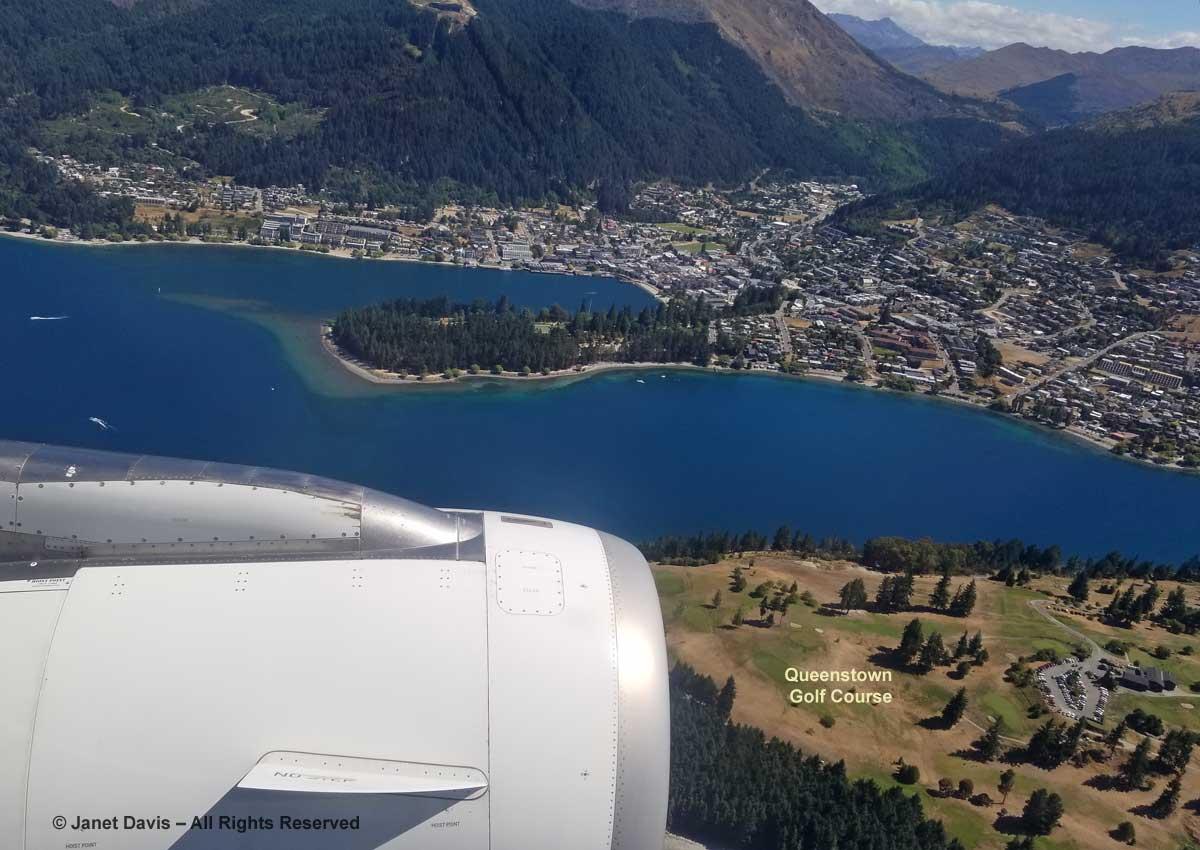 Queenstown-Air New Zealand Flight-Golf Course-Aerial View