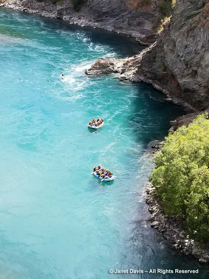 Rafts-under Kawarau Bridge Bungy Centre