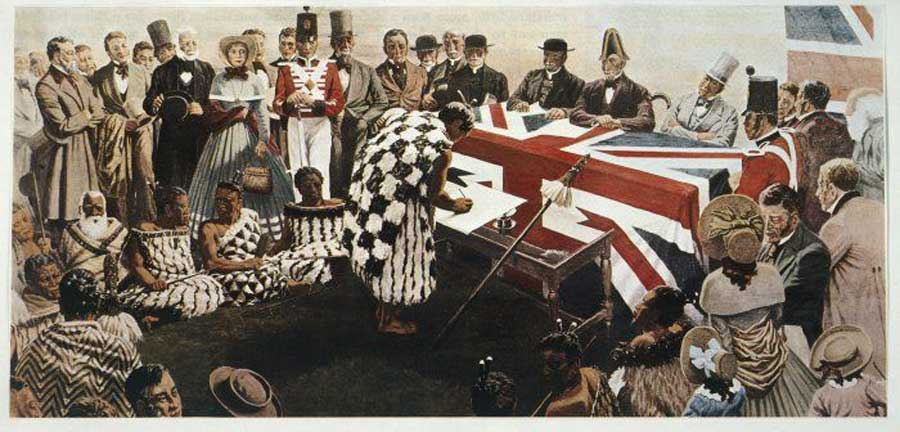 Reconstruction of the Treaty of Waitangi-Marcus King-Collections of Alexander Turnbull Library