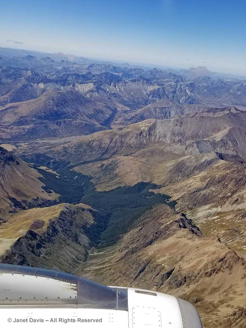 Southern Alps-Aerial View-near Queenstown